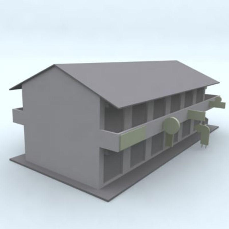 building 007 royalty-free 3d model - Preview no. 2