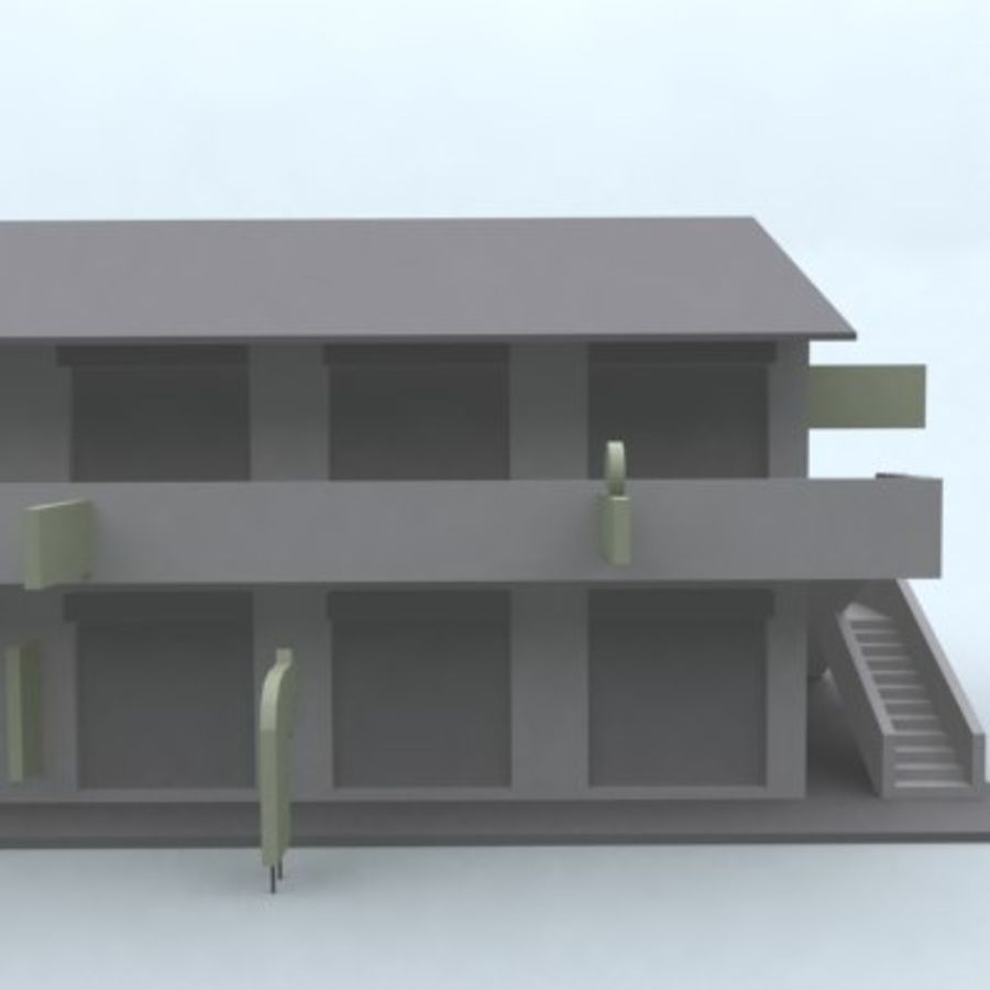building 007 royalty-free 3d model - Preview no. 7