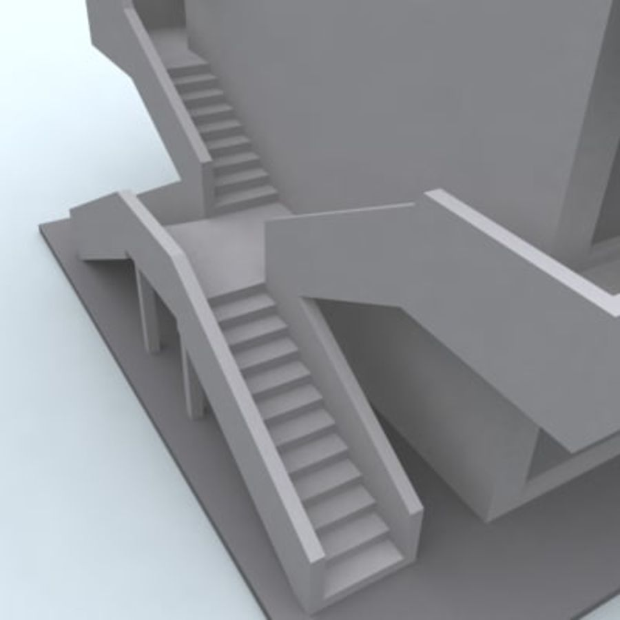 building 007 royalty-free 3d model - Preview no. 4