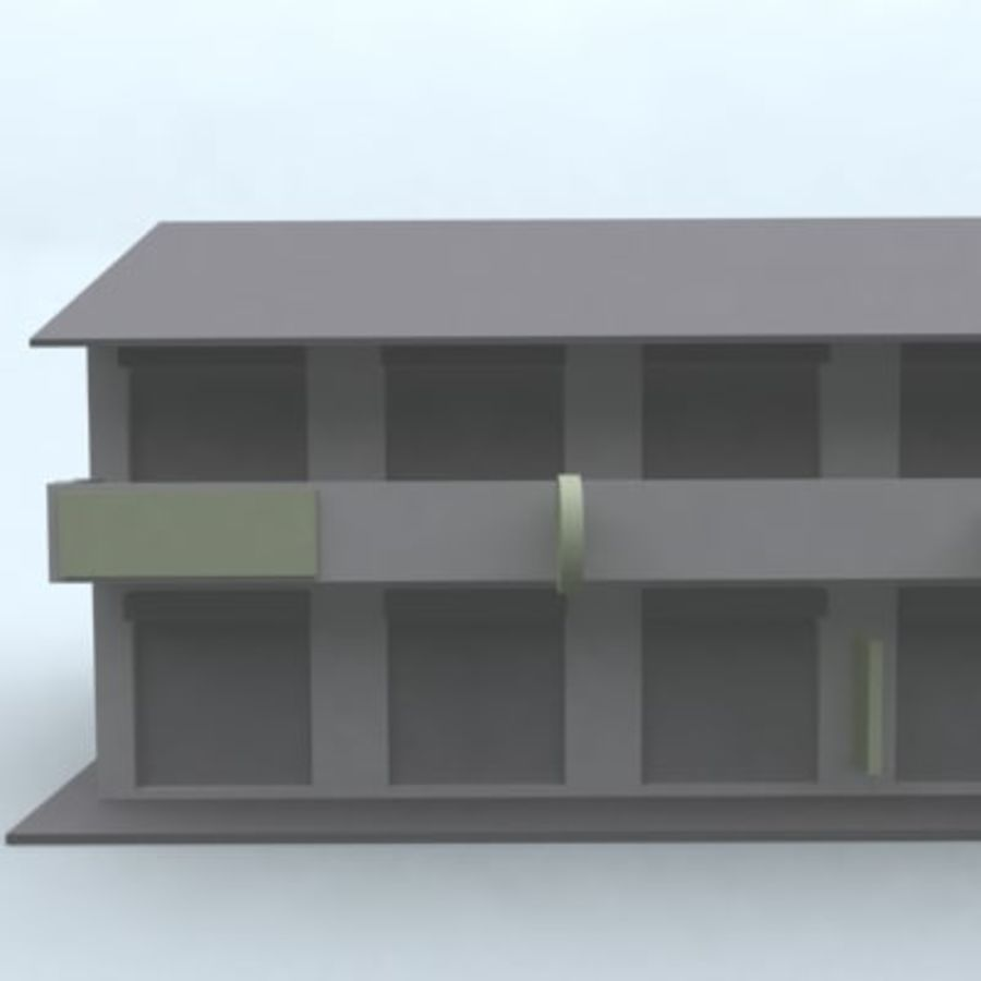 building 007 royalty-free 3d model - Preview no. 6