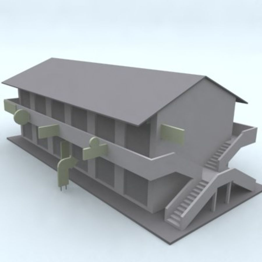 building 007 royalty-free 3d model - Preview no. 1