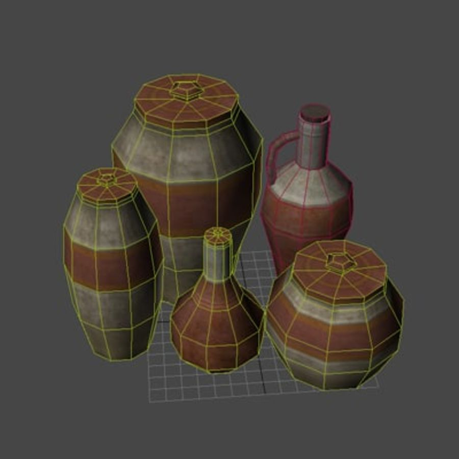 wazony royalty-free 3d model - Preview no. 3