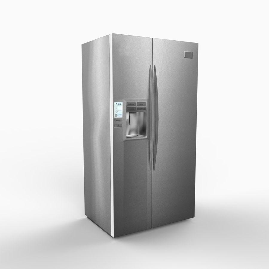 Refridgerator royalty-free 3d model - Preview no. 3