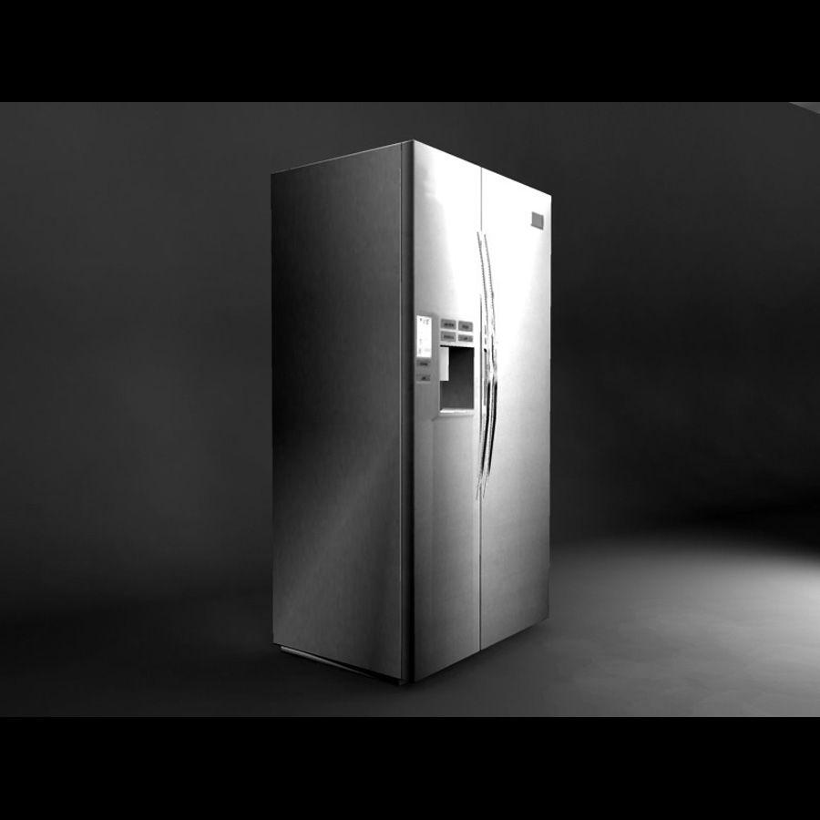 Refridgerator royalty-free 3d model - Preview no. 4
