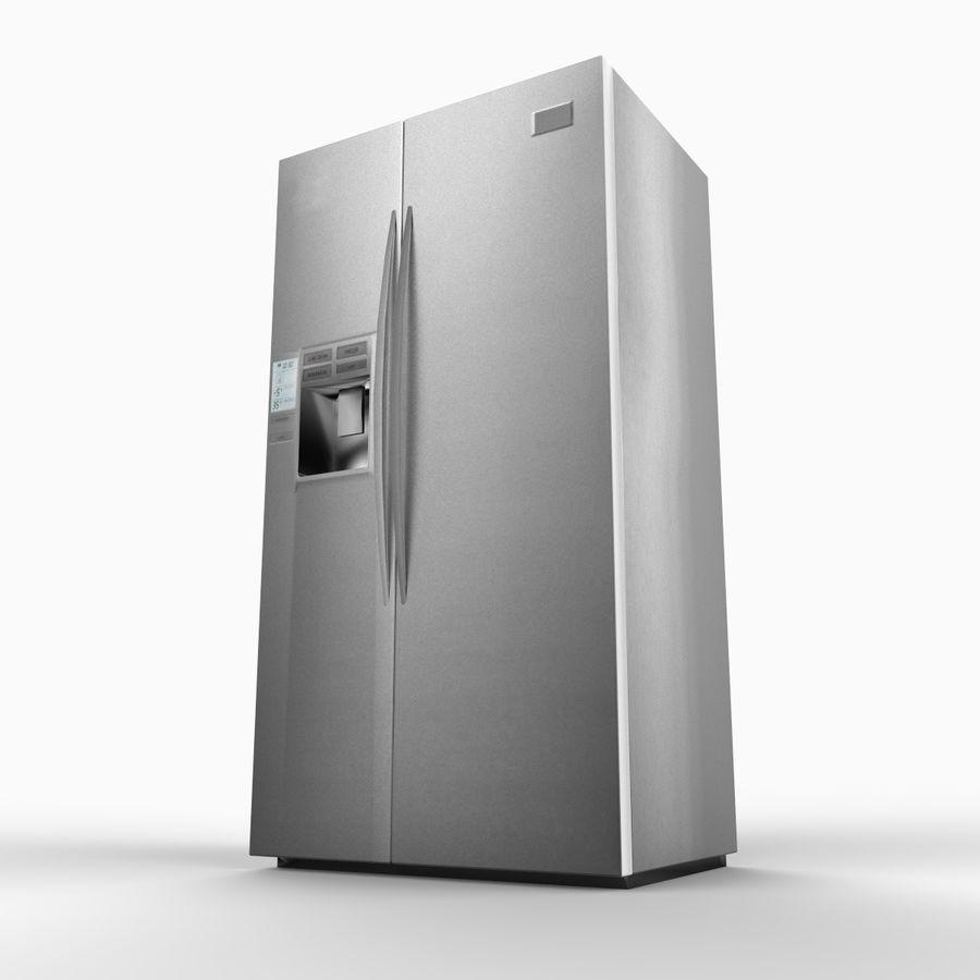 Refridgerator royalty-free 3d model - Preview no. 2