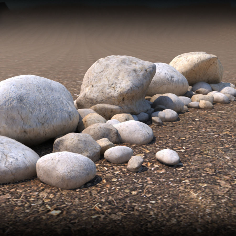 Boulders royalty-free 3d model - Preview no. 2