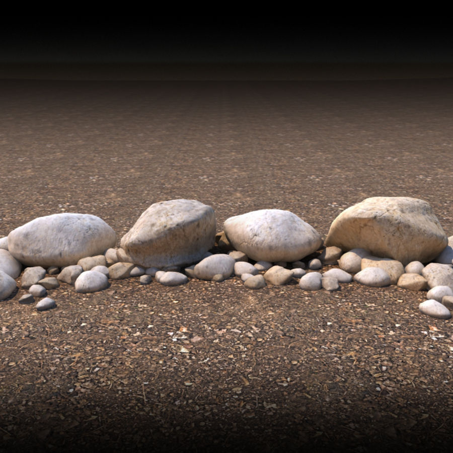 Boulders royalty-free 3d model - Preview no. 1