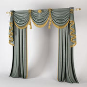 Classic Cabinet Curtains 3d model