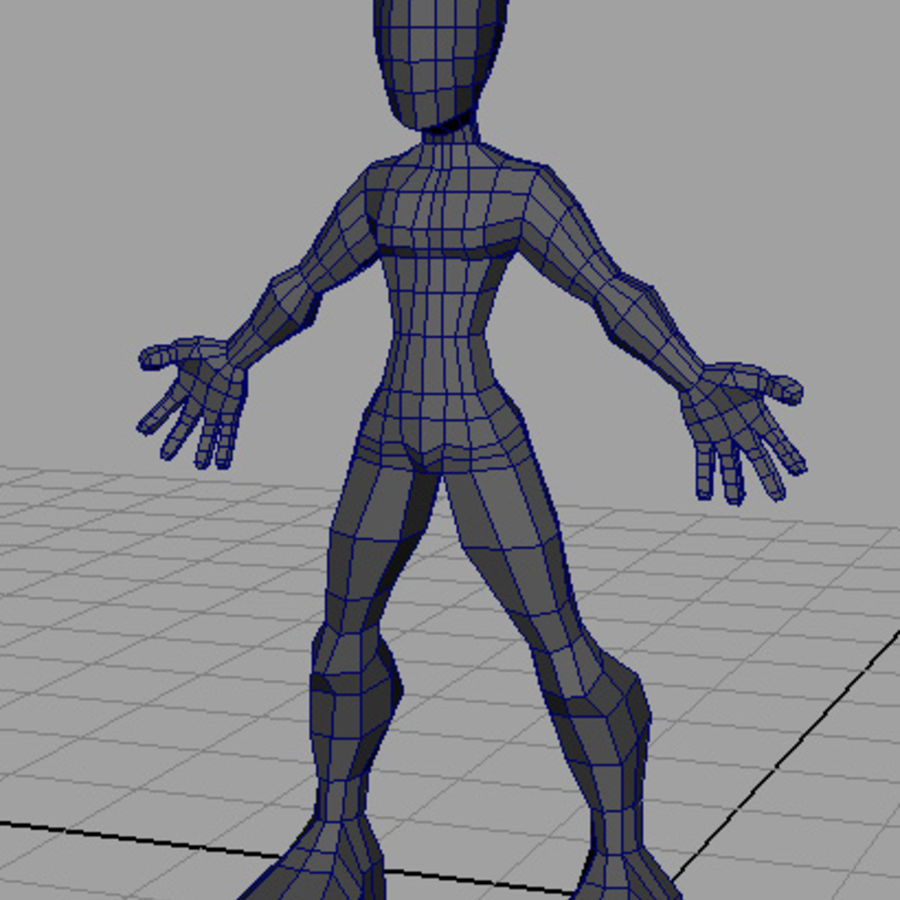 Caractère / Base Mesh royalty-free 3d model - Preview no. 1