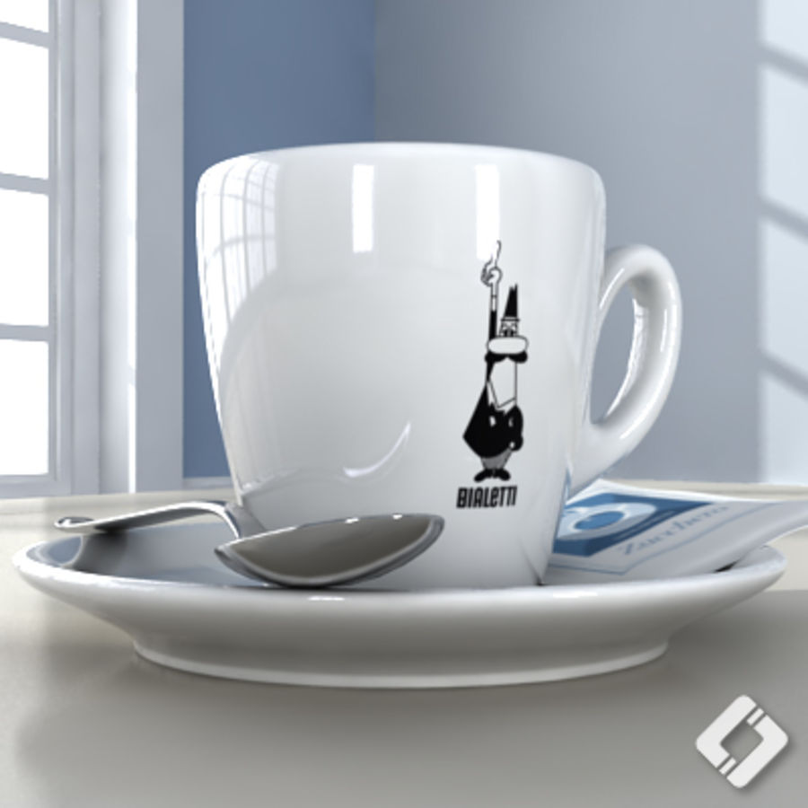 Bialetti coffee cup royalty-free 3d model - Preview no. 2