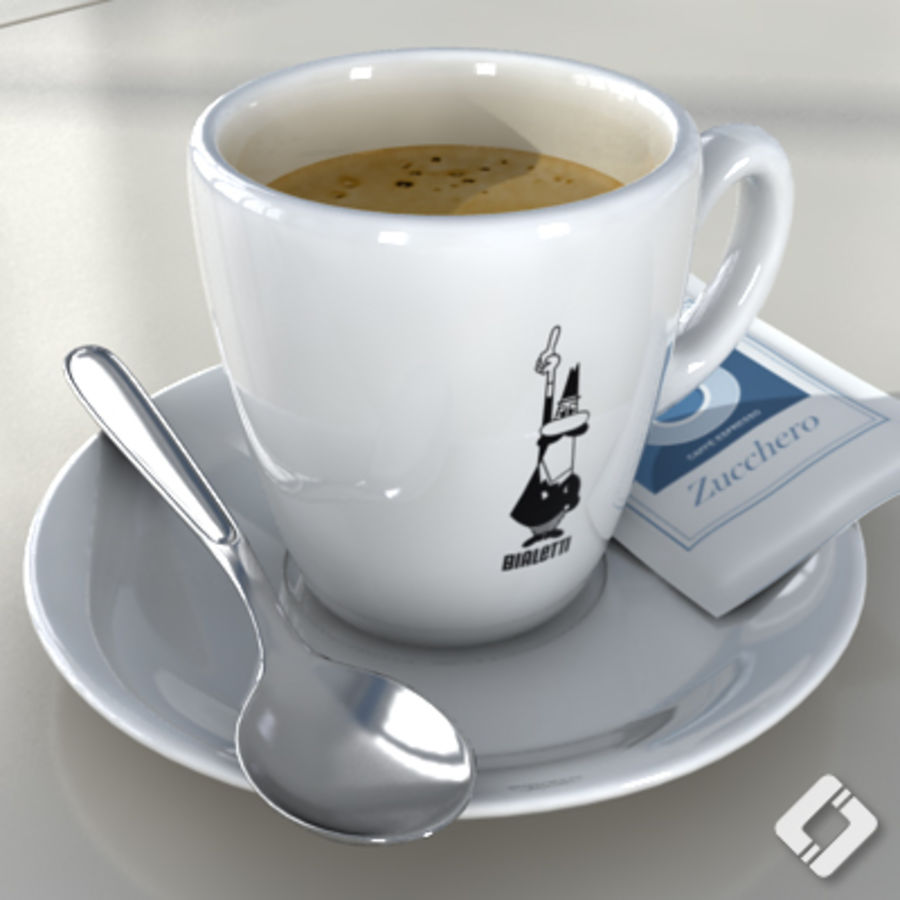Bialetti coffee cup royalty-free 3d model - Preview no. 1