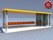 Bus Stop V2 3d model