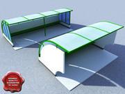 Parada de ônibus V1 3d model