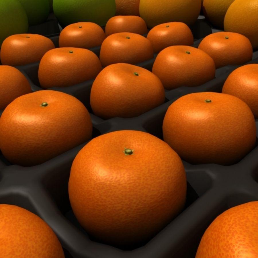 葡萄柚,橙,普通话集合 royalty-free 3d model - Preview no. 6