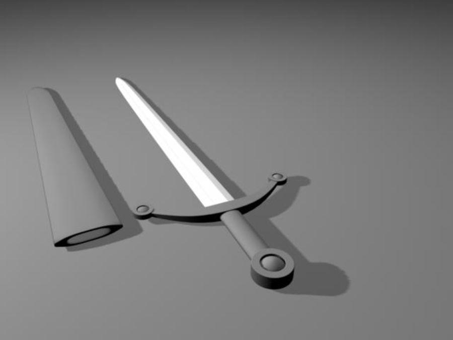 Sword.mb royalty-free 3d model - Preview no. 4