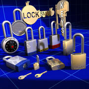 Locks Keys and Sign Collection 01 3d model