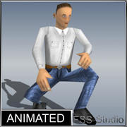 Human Very Low Poly Animated 3d model