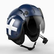 Helicopter Helmet 3d model