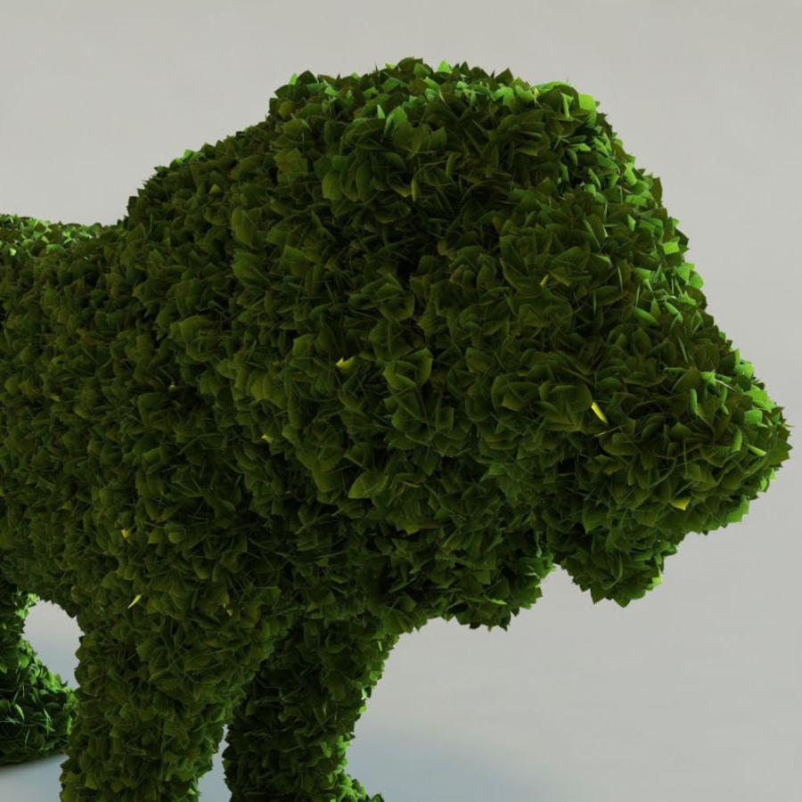 Buskar i form av djur royalty-free 3d model - Preview no. 7