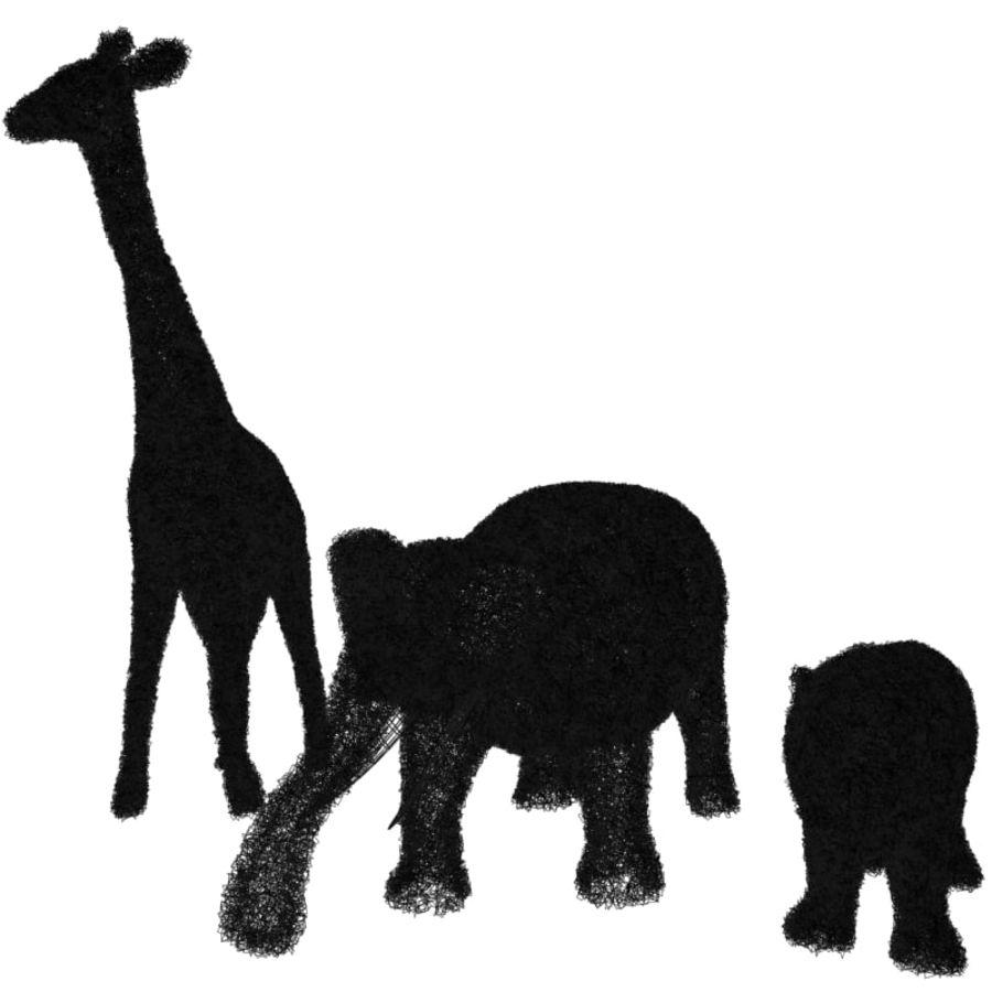 Buskar i form av djur royalty-free 3d model - Preview no. 8