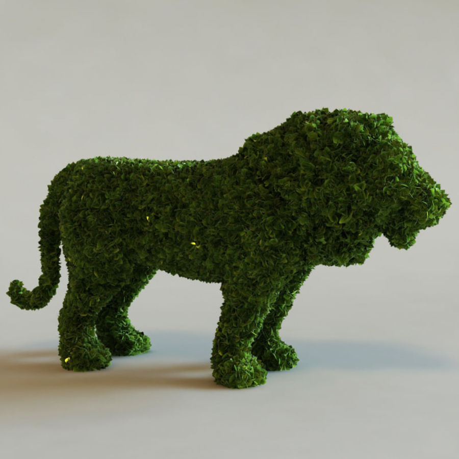 Buskar i form av djur royalty-free 3d model - Preview no. 2