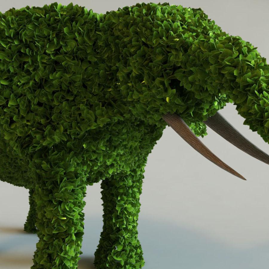Buskar i form av djur royalty-free 3d model - Preview no. 5