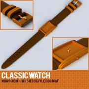 классические часы 3d model