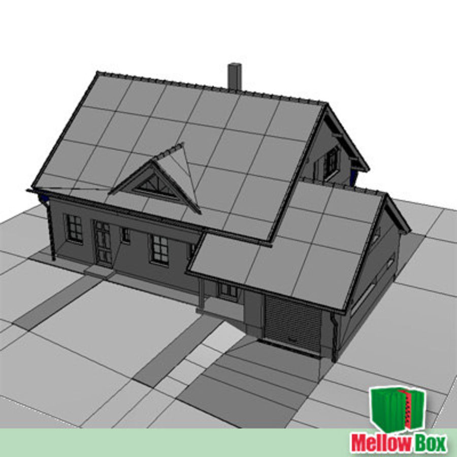Single family house 03 royalty-free 3d model - Preview no. 7