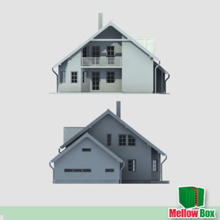 Single family house 03 royalty-free 3d model - Preview no. 6