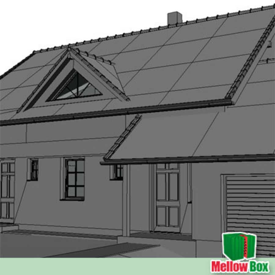 Single family house 03 royalty-free 3d model - Preview no. 9