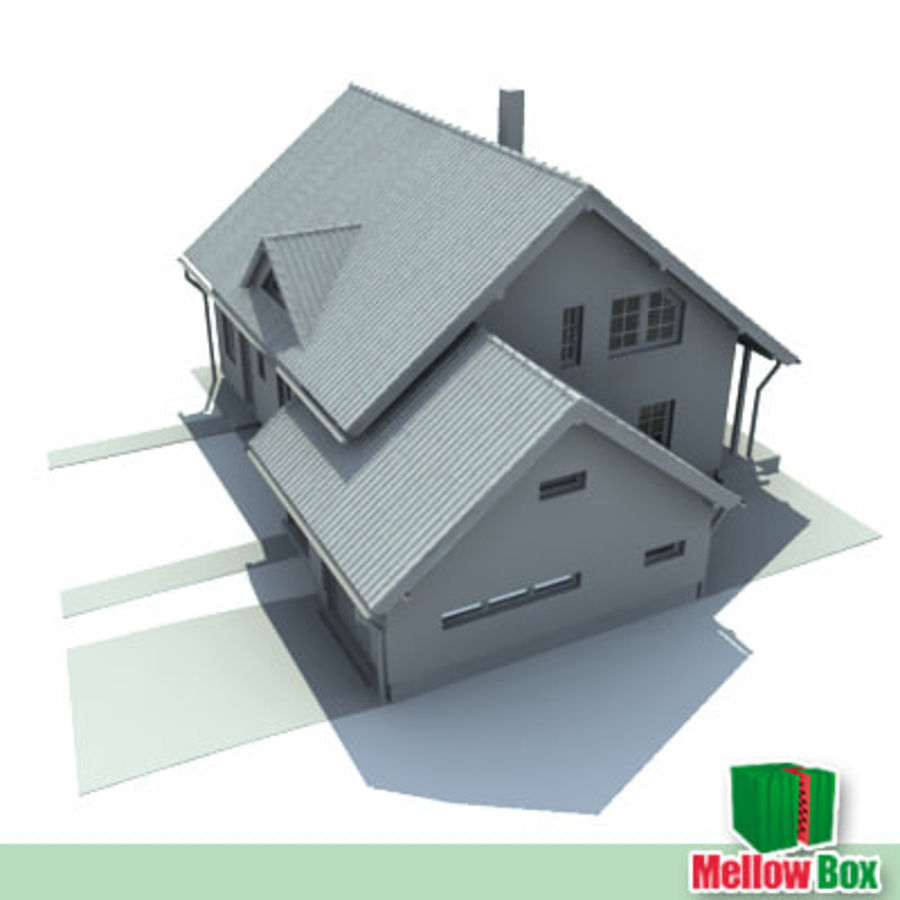 Single family house 03 royalty-free 3d model - Preview no. 2