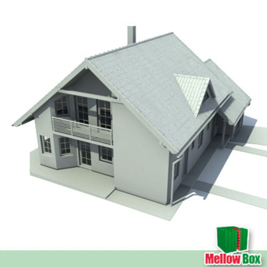 Single family house 03 royalty-free 3d model - Preview no. 4