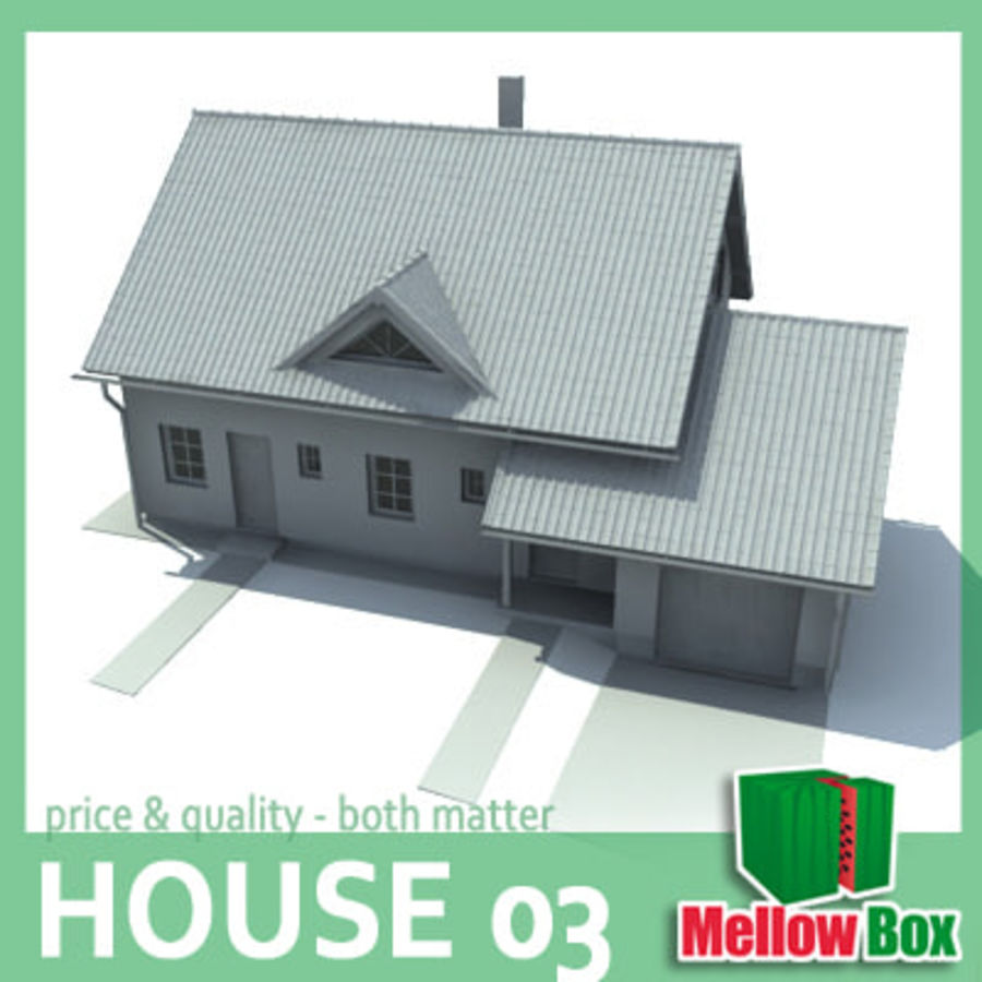 Single family house 03 royalty-free 3d model - Preview no. 1