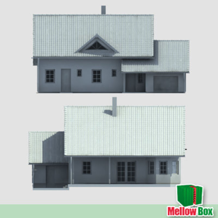 Single family house 03 royalty-free 3d model - Preview no. 5