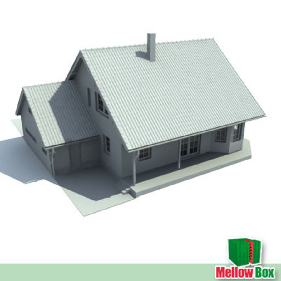 Single family house 03 royalty-free 3d model - Preview no. 3