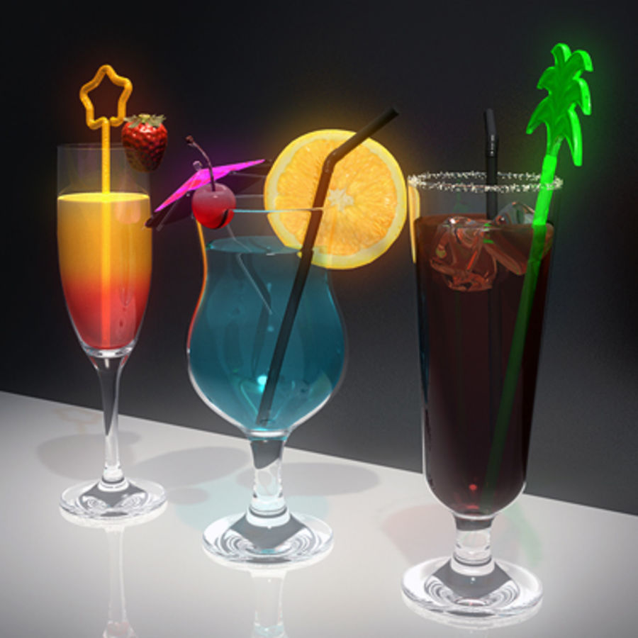 Cocktails (Collection) royalty-free 3d model - Preview no. 4