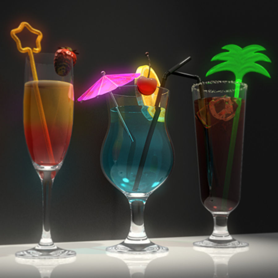 Cocktails (Collection) royalty-free 3d model - Preview no. 5