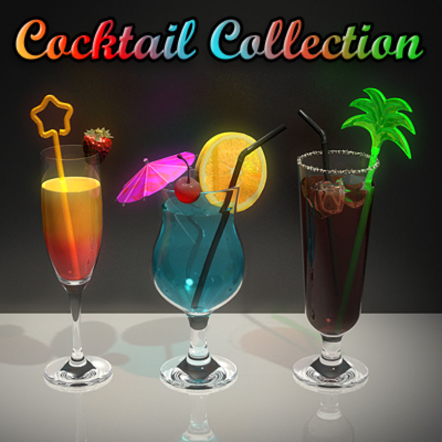 Cocktails (Collection) royalty-free 3d model - Preview no. 1