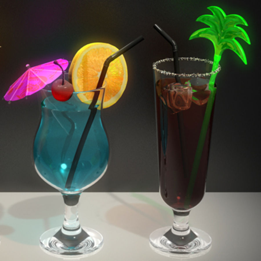 Cocktails (Collection) royalty-free 3d model - Preview no. 2