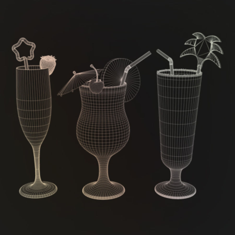 Cocktails (Collection) royalty-free 3d model - Preview no. 6