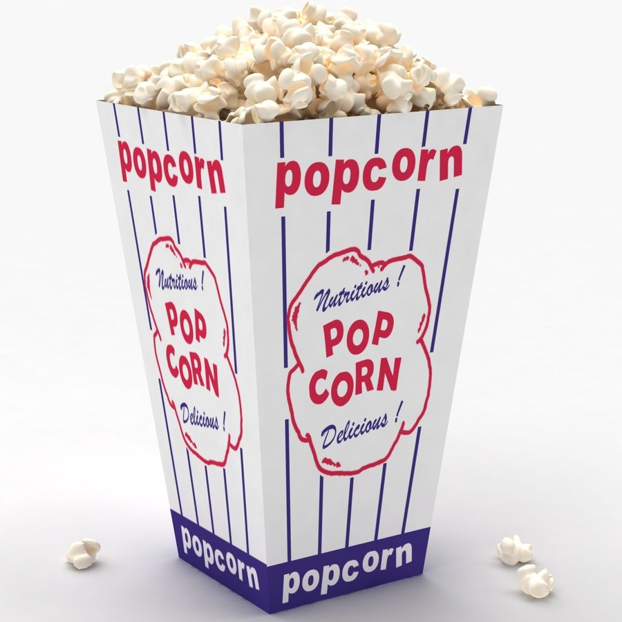 Popcorns royalty-free 3d model - Preview no. 2