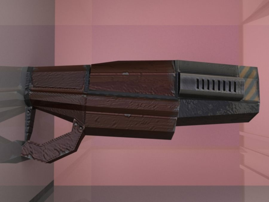 Sci Fi weapons royalty-free 3d model - Preview no. 9