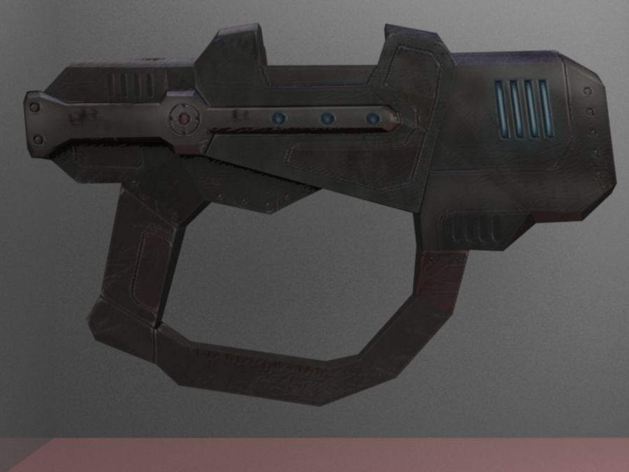 Sci Fi weapons royalty-free 3d model - Preview no. 5