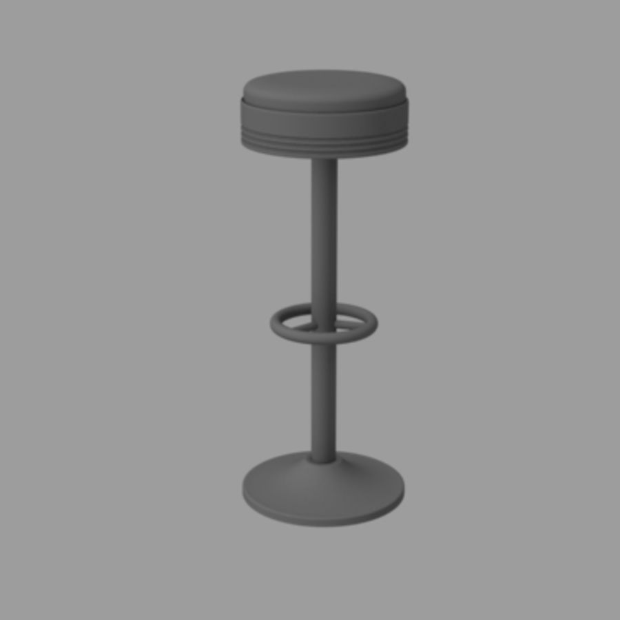바 의자 royalty-free 3d model - Preview no. 2