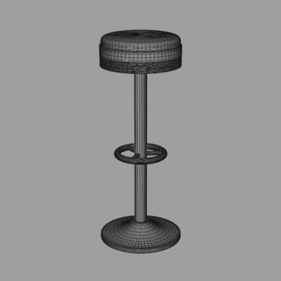 바 의자 royalty-free 3d model - Preview no. 5