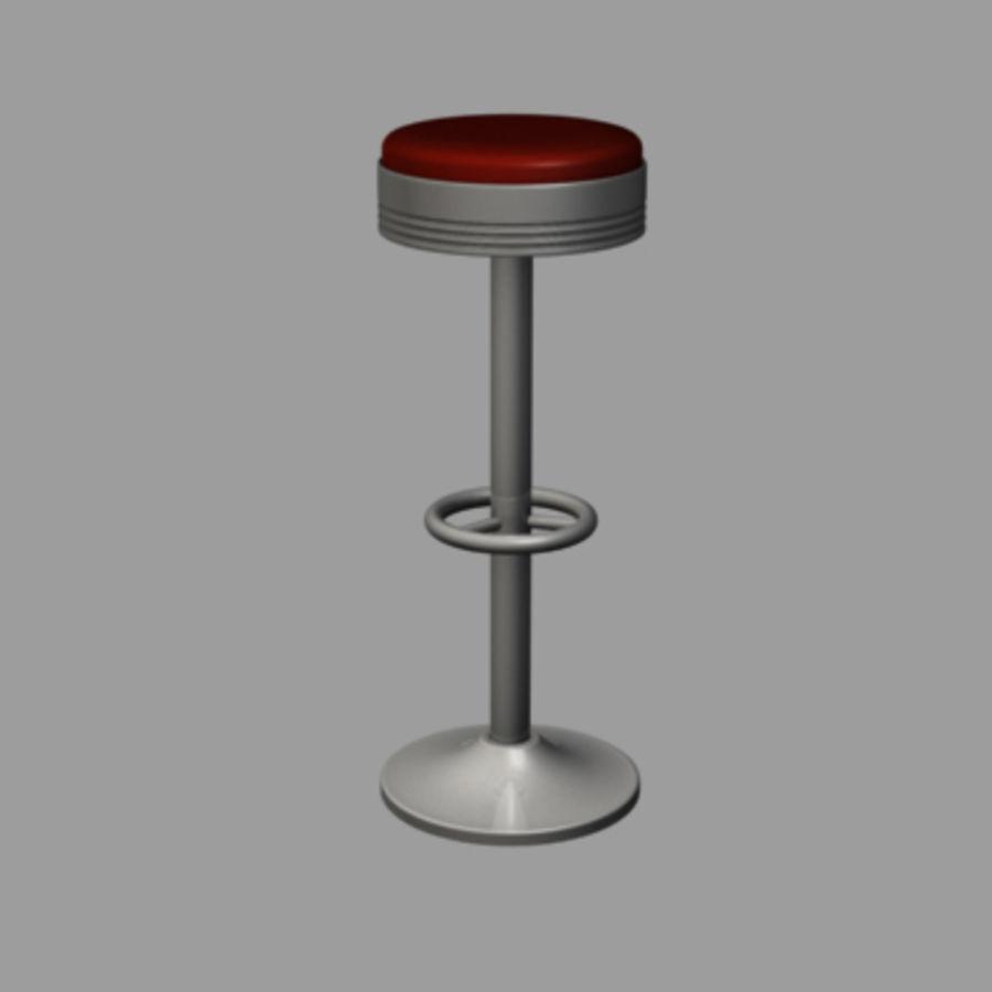 바 의자 royalty-free 3d model - Preview no. 1