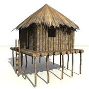 非洲建筑3 3d model