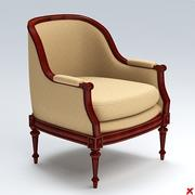 Armchair old fashioned024.ZIP 3d model