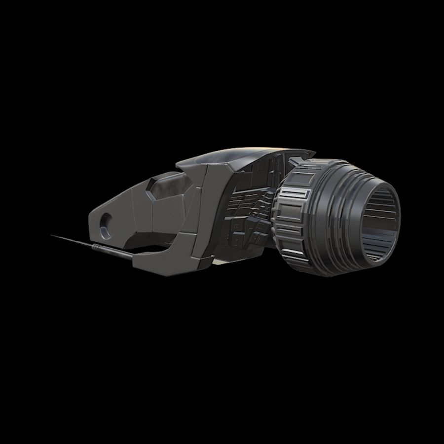 Spaceship royalty-free 3d model - Preview no. 3
