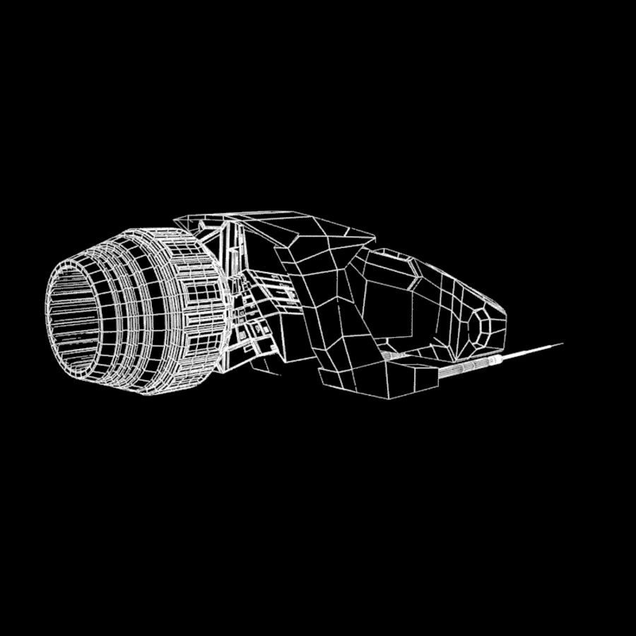 Spaceship royalty-free 3d model - Preview no. 7